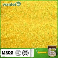Shining soft texture pure color waterbase nano paint