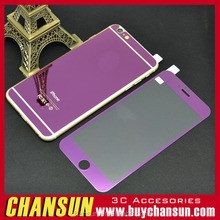 2016 Electroplating Mirror Front Back Color Tempered Glass Screen Protector for iPhone 6 6 Plus