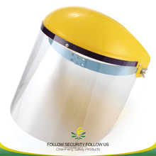 simple adjustable safety face shield with plexiglass