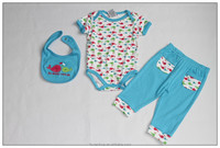 hot sale 3 pieces set toddler clothing baby clothes wholesale price