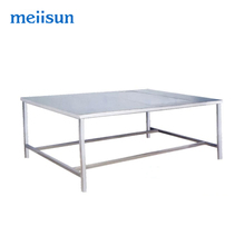 Stainless steel convenient medical large work prep table