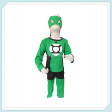 Cute Green Lantern Superhero Children Costume Kids Boys Halloween Bodysuit Cosplay Costume