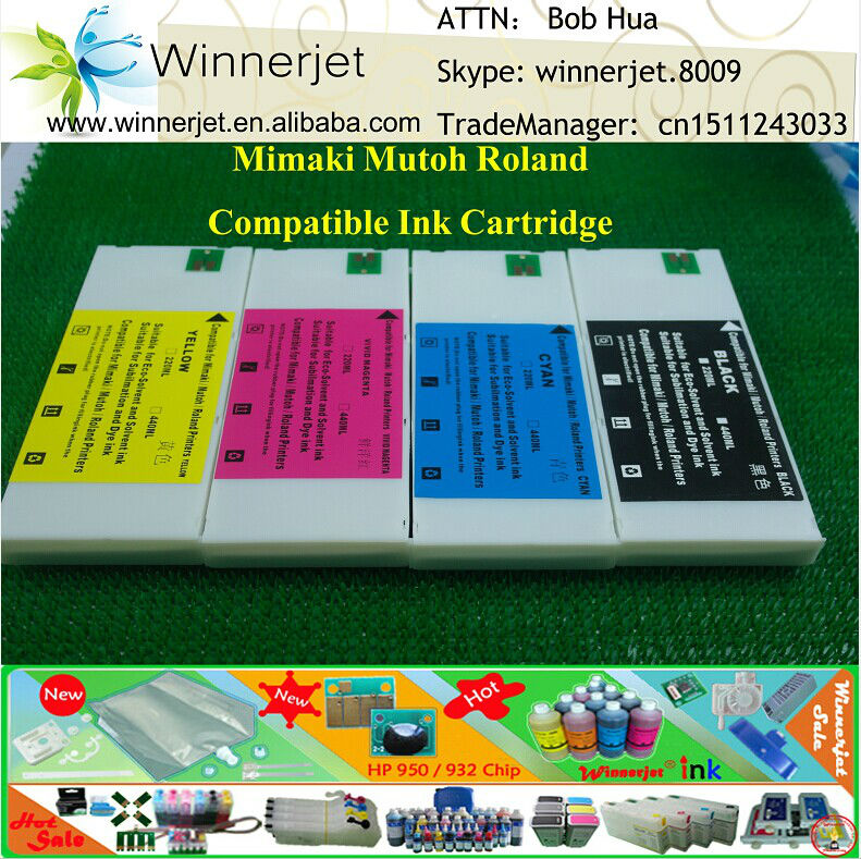 Wide-format Compatible Ink Cartridge for Mutoh RJ900 RJ901 RJ1300