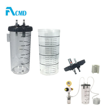 1000ml ,2000ml ,4000ml  Reusable Suction Canister and disposable Liner systems with Built-in Bracket