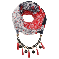China Supplier snood scarves with tessels pendant for women