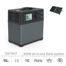 110-240V 300W Multifunctional portable solar power station, solar energy storage system for home, outdoor, car jump starter