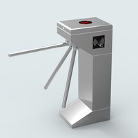Office building access tripod turnstile