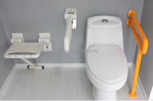 Bathroom wall mounted folding up disabled shower seat by manufacturer