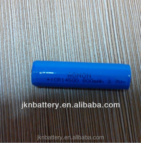 Wholesale rechargable 14500 battery Li ion 3.7v battery / 14500 lithium ion battery cell