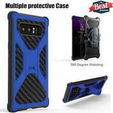 For Note8 360 Rotating holster stand holder Full Body Protective Armor mobile phone cover cases For Samsung Galaxy Note 8 case