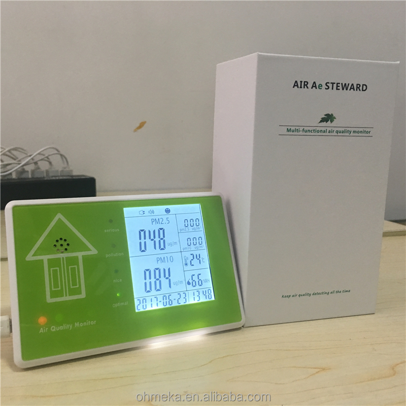 LCD display pm2.5 air quality monitor PM <strong>10</strong> with temperature humidity meter