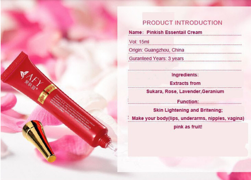 Intimate Bleaching Pinkish Cream Pink Lightening Whitening Nipple Underarm Vagina Lip Private Part whitening Skin Care HTT679