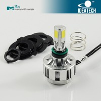 dc12V 24V 3000LM COB led headlight for motorcycle H4 double beam
