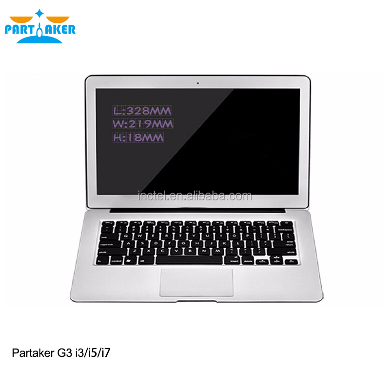 Partaker G3 I7 <strong>Laptop</strong> With Intel Core I7 5500U 8G RAM 256G SSD 13.3 Inch Silver Color
