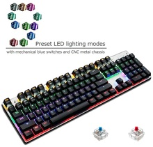 Cheap price factory supply LED Light 104 key Red Switch Gaming keyboard mechanical for computer gamers