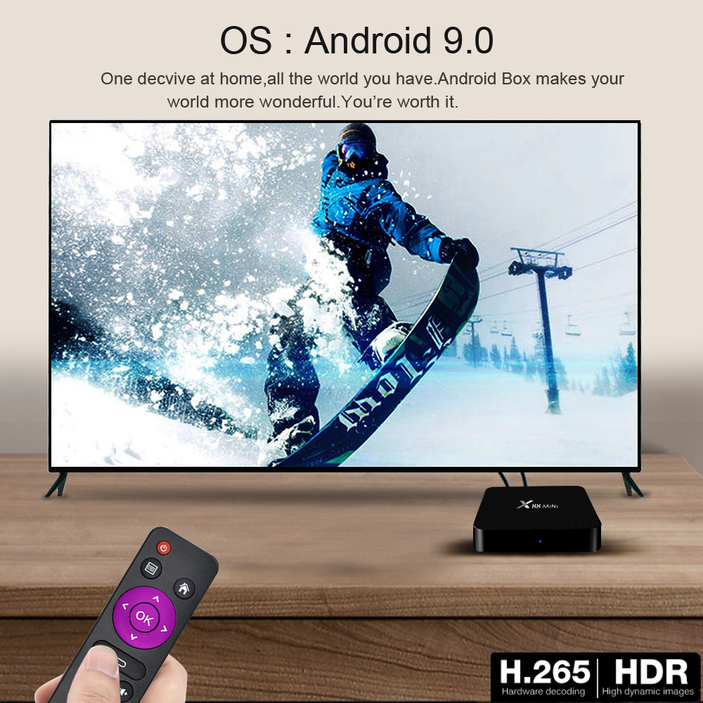 X88 MINI TV Box Smart TV Box Android 9.0 2GB 16GB RK3318 Smart TV Box