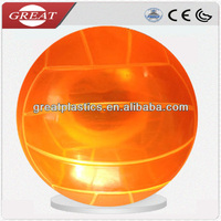 Clear transparent plastic ball