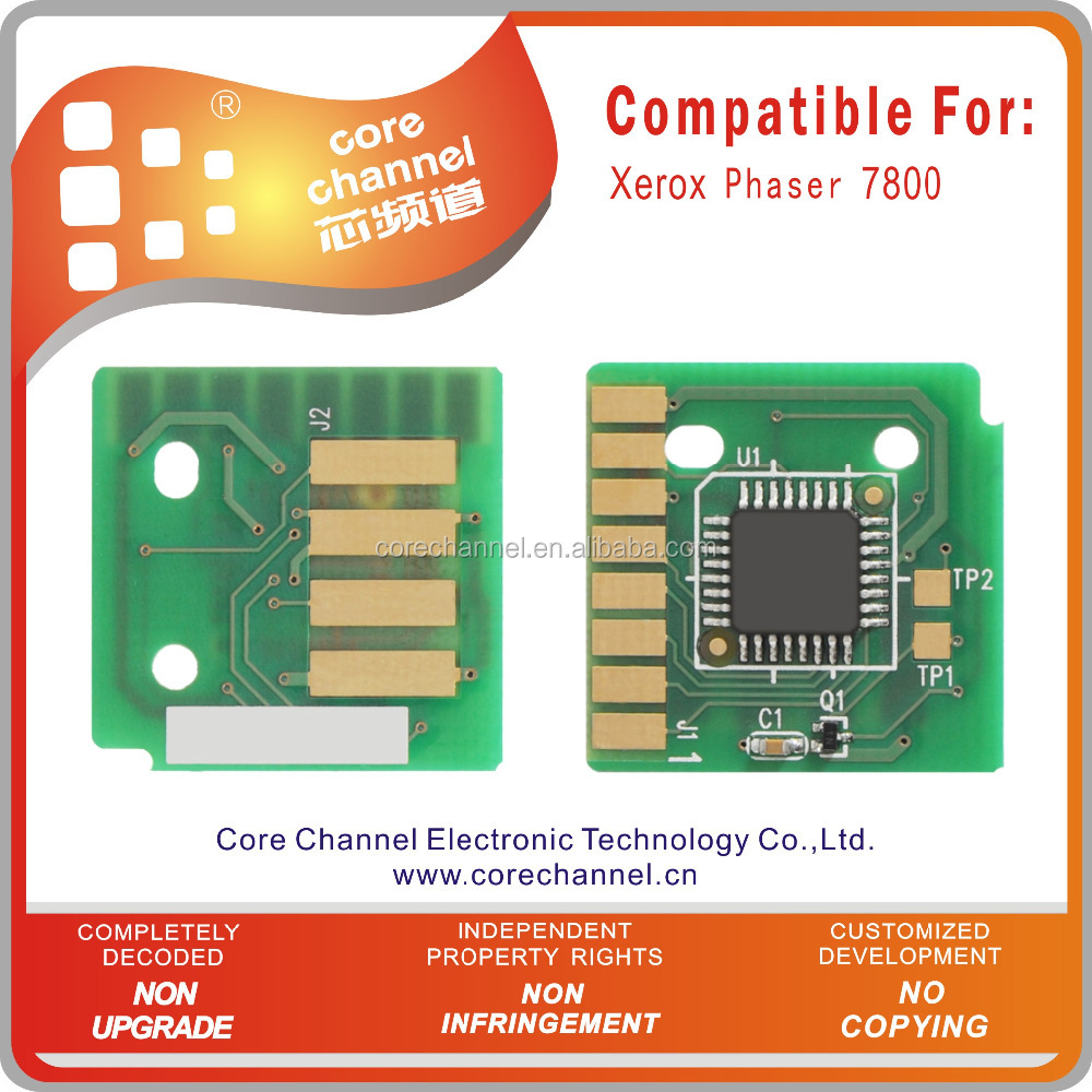 Xeroxs Phaser 7800 Toner Chip for Xeroxs Printers Phaser 7800