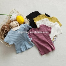 baby infant solid color t shirt cotton blank t shirt with no printing