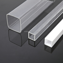 Transparent hollow extrusion large diameter round and square acrylic tube