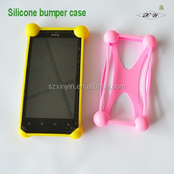 Universal mobile phone silicon bumper case for promotion