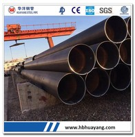LSAW welded black steel pipe carbon steel for gas and oil pipe line API standard