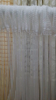 Christmas Wholesale 3m x 3m White Window Door Room Home Decor Tassel Drape Panel Strings Curtain