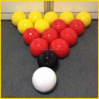 16-balls set packing snooker soccer balls snookballs for foot pool, Soccer Billiards, football snooker, snooker football