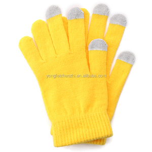 Solid Colors Wholesale Winter Warm Classical Knitted Cycling Screen Touch Gloves