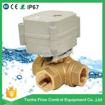 3- way DN20 0~10V/4-20mA electric proportioning valve water flow control valve