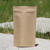 SGS approval custom design popular lined brown paper bags with zipper