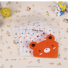 Mixed Design Self Seal Candy Cake Cookies Bags Bag Little Bear Food Packaging Bags
