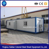 Move-in Strong steel frame prefab shipping container house/low cost prefab container house