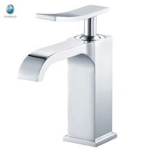 KB-17 square style deck mounted elegance and fashion bathroom single handle basin sink vanity waterfall faucet