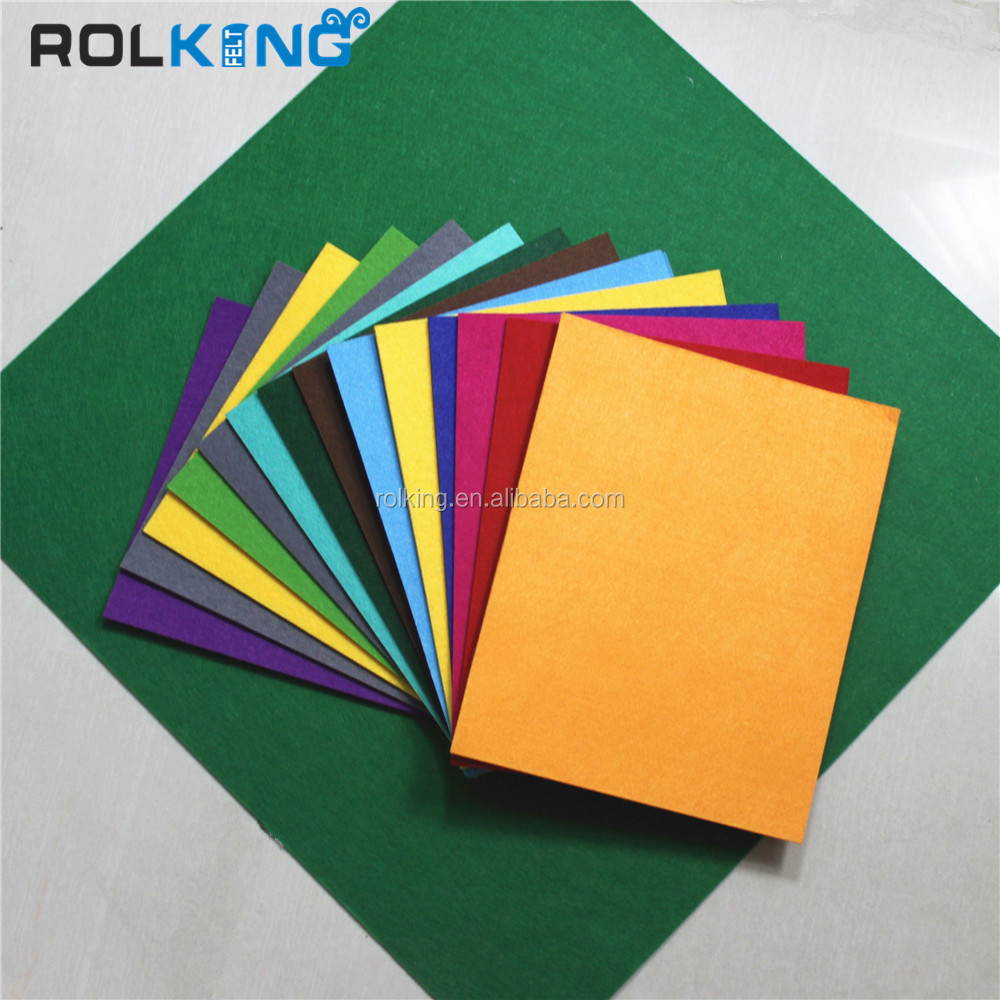 colored polyester felt, nonwoven felt,