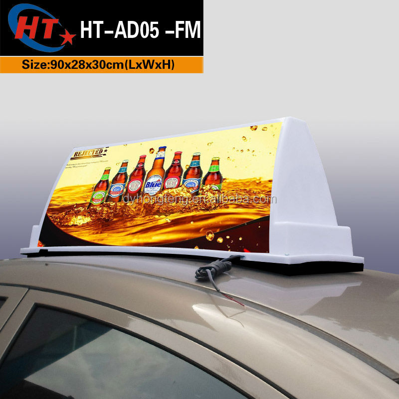 Taxi accessories led neon car billboard advertising