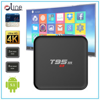 2GB ram 8GB rom Amlogic S905 cpu 5 Core gpu Android 5.1 t95m set top box Android stb