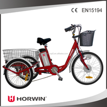 36V 250W motor electric tricycle 3 wheels electric motor bike for hot sale