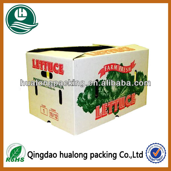 Promotional Fresh Lettuce Vegetable Waxed Boxes