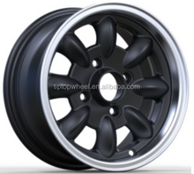 10 12 inch China wholesale wheel 4x101.6 Guangzhou factory rim Black maching face alloy wheel
