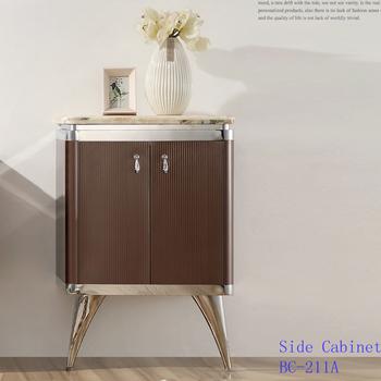Foshan factory stainless steel coffee color new design furniture cabinet