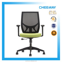 comfortable reclining back swivel chair with nylon feet