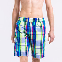 China wholesale swim beach xxx photo sexy men microfiber fabric plaid board shorts manufacturer