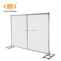 china hot dipped galvanized temporary construction chain link fence manufacture