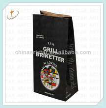 Double layer kraft paper bag for charcoal 2.5kg
