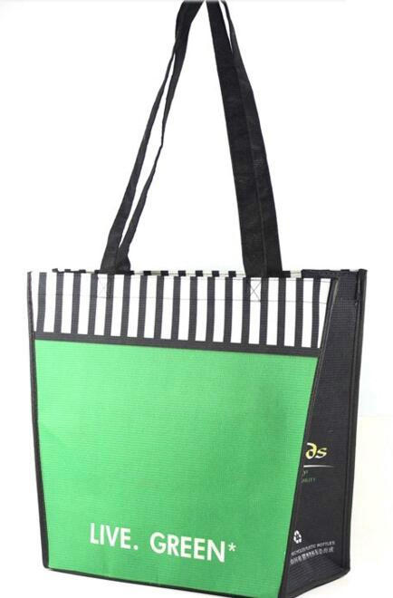 recycled PET shopping bag/made from recycled plastic bottles/rpet bag