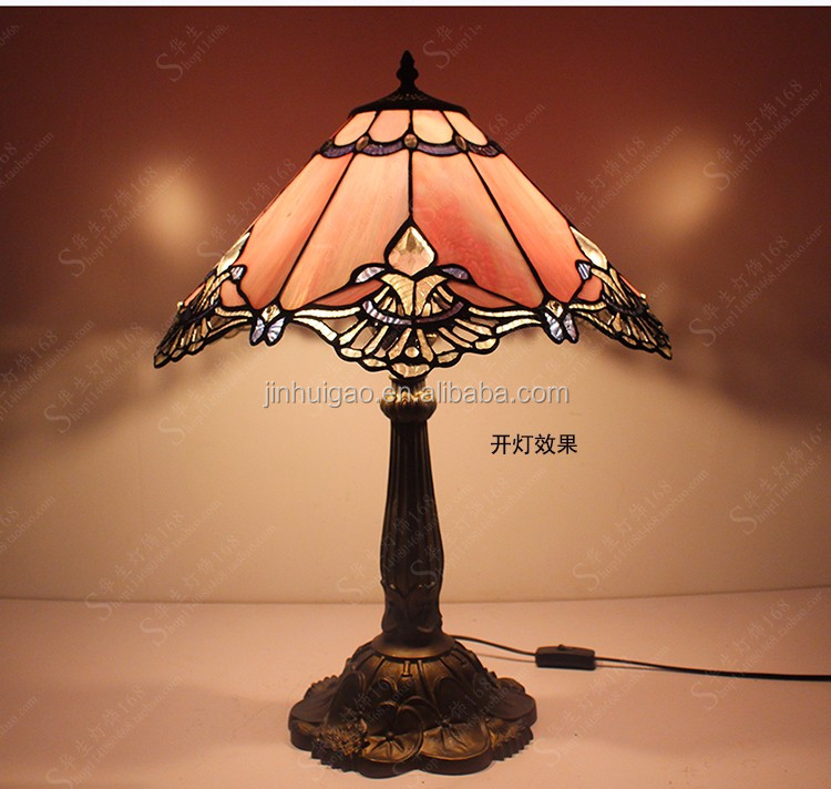 Popular bedroom table lamp tiffany table lamp shade stained glass desk lamp