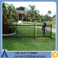 hot sale new design easy assemble high quality hot dip galvanized powder coated cheap steel fence with post