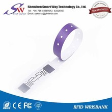 colorful rfid paper nylon wristband for hospital patient testing