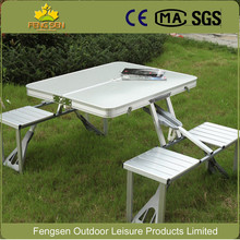 2017 Factory wholesale outdoor Aluminum portable adjustable folding pinic garden camping table with 4 chairs